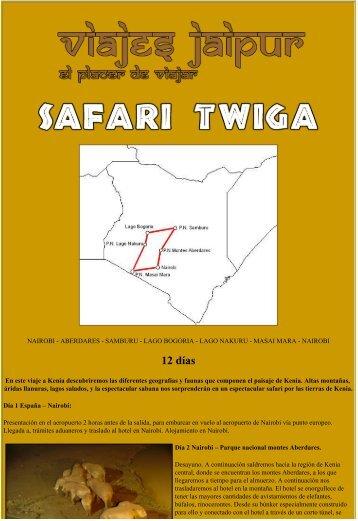 Safari Twiga - Viaje a Kenia, Masai Mara, Samburu ... - Viajes Jaipur