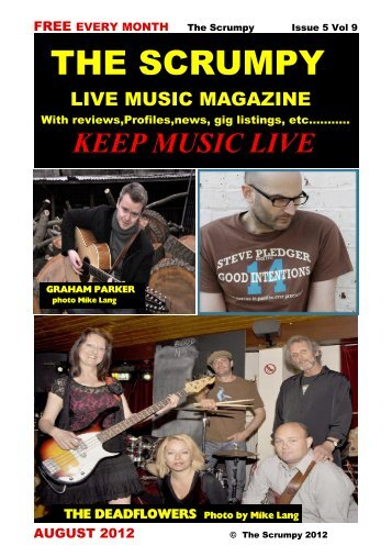 August 2012 - Mag 4 Live Music