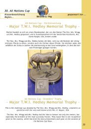 Major T.W.I. Hedley Memorial Trophy - - Major T.W.I. Hedley ...