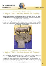 Major TWI Hedley Memorial Trophy - All Nations Cup