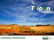 Corporate Presentation - Taipan Resources Inc.