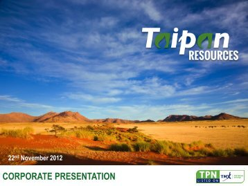 Corporate Presentation - Taipan Resources Inc.