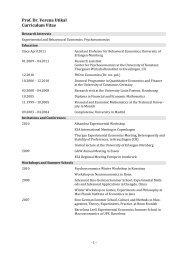 Prof. Dr. Verena Utikal Curriculum Vitae