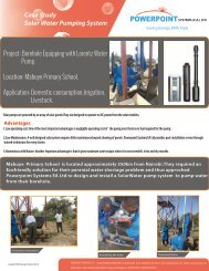 Case Study Solar Water Pumping System - Powerpoint Systems (EA)