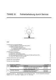 TWIKE III: Serviceanleitung - TWIKE Klub