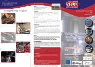 Welding and Cutting with Fibre-Delivered Laser Beams - AILU