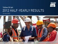 2012 half-yearly results presentation slides PDF (4.17 - Tullow Oil plc