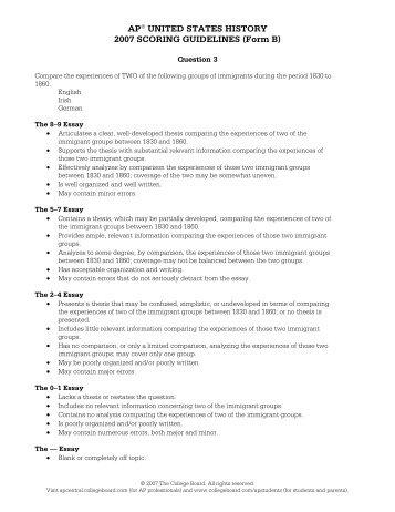AP® European History 2008 Free-Response Questions Form B