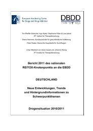 Reitox- Bericht 2011 - Die Drogenbeauftragte der Bundesregierung