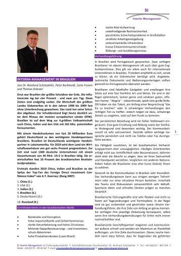 Vergütung von Interim-Managern - SI Interim Management