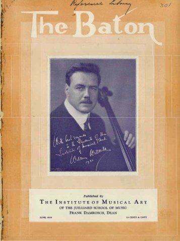 The Baton: Vol. 9, No. 8 - June, 1930 - The Juilliard School