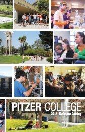 2012-13 Course Catalog - Pitzer College