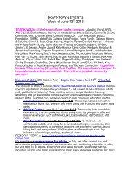 DOWNTOWN EVENTS Week of June 13 2012 - Idaho Falls ...