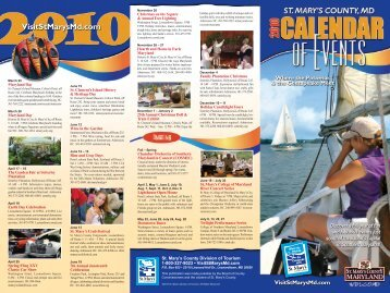 St. Mary's County Division of Tourism 1-800-327-9023 ... - Maryland