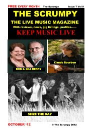 October 2012 - Mag 4 Live Music