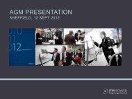 AGM Presentation 2012 - ITM Power