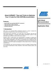Atmel AVR4027: Tips and Tricks to Optimize ... - Atmel Corporation