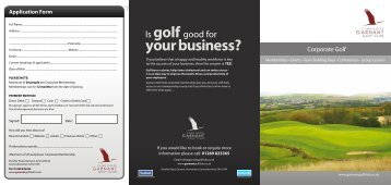 Society Packages - Garnant Golf Club