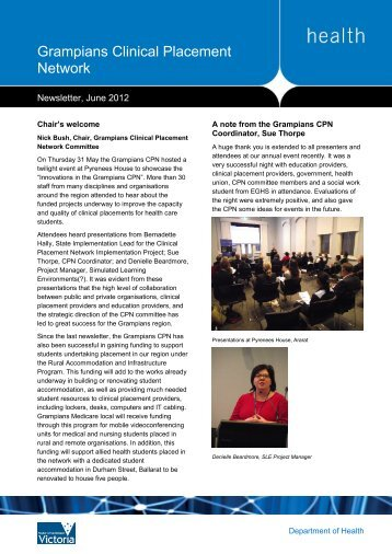 Grampians CPN Newsletter, June 2012 (pdf) - health.vic.gov.au