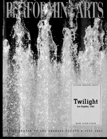 a literary analysis of twilight los angeles 1992 by smith African-american playwright and actress anna deavere smith was twilight: los angeles, 1992 as a result of smith's careful analysis and portrayal of her.