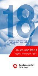 Merkblatt 18 - Frauen und Beruf - Bundesagentur für Arbeit