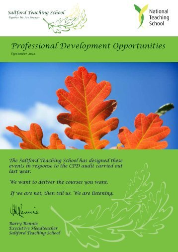 Professional Development Opportunities - Saltford C of E Primary ...