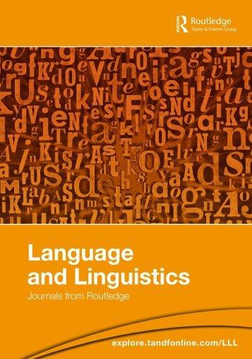 Language and Linguistics - Taylor & Francis