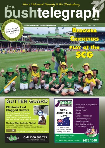 19th January 2012 - The Bush Telegraph Weekly