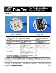 model 1005 and crane hi-4 product teardown - daytona twin tec