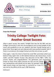 Trinity College Twilight Fete: Another Great Success