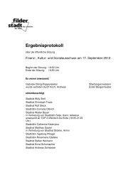 Finanz-, Kultur- und Sozialausschuss - Stadt Filderstadt
