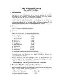 Benutzungsregelung für das P+R-Parkhaus an der - Stadt Filderstadt