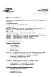 Erweiterung der Kläranlage Bonlanden ... - Stadt Filderstadt