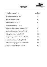 Teilhaushalte 1 bis 11 - Stadt Filderstadt