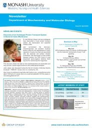 Newsletter - Faculty of Medicine, Nursing and Health Sciences ...