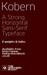 Download Font Specimen PDF - The Northern Block