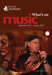 music - University of Chichester