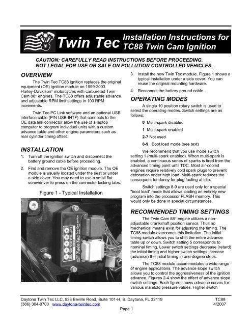 TC88 Installation Instructions - Daytona Twin Tec | Twintec Ignition System Wiring Diagram |  | Yumpu