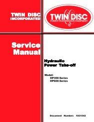 Twin Disc HP 300, 600 service manual - Morbark
