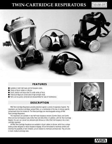 Twin-Cartridge Respirators 10-00-03