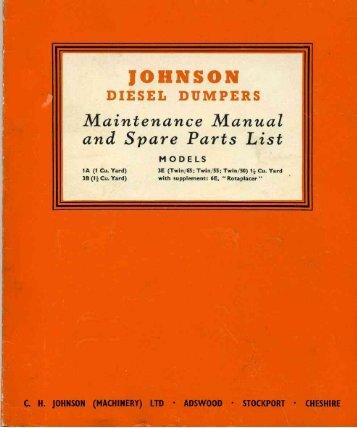 Johnson 1A, 3B and 3E Dumper manual - Diggers-dumpers-plant.co ...