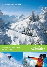This is winTer in Kaprun prices and informaTion ... - Hotel Tauernhof
