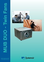 MUB DUO - Twin Fans - Systemair