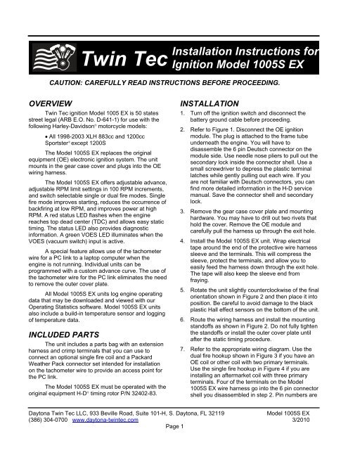 Twintec Ignition System Wiring Diagram | Wiring Schematic ... on