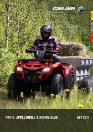 ParTS, aCCeSSOrIeS & rIdIng gear aTV 2011 - Motorbolaget