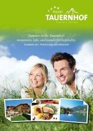 Summer in the Tauernhof: mountains, lake, and ... - Hotel Tauernhof