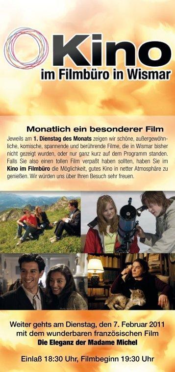 Monatlich ein besonderer Film Weiter gehts am ... - Filmbüro MV