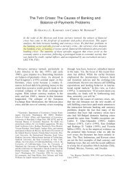 The Twin Crises: The Causes of Banking and Balance-of-Payments ...
