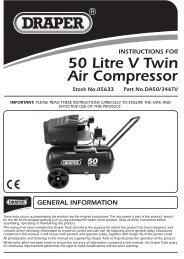 50 Litre V Twin Air Compressor - Draper Tools