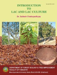 Introduction to Lac and Lac Culture - Birsa Agricultural University